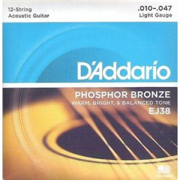 D'Addario EJ38 für 12saitige Akustikgitarre, 10er, I4-