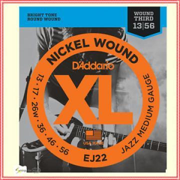D'Addario EJ22 XL Nickel Jazz Medium  Electric Guitar Strings 13 - 56