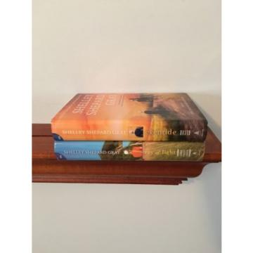 Lot 2 Hardcover Books By Shelley Shepard Gray ~ Ray Of Light & Eventide ~ Large