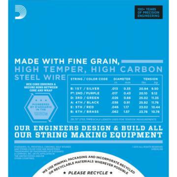 3 sets D'Addario EXL158 Baritone Light Gauge Electric Guitar Strings