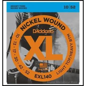 D'Addario EXL140 Lite Top / Heavy Bottom  Electric Guitar Strings 10 - 52 XL140