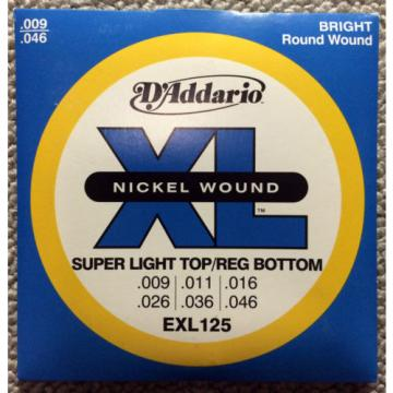 D'Addario guitar strings Nickel Wound Super Light Top/Reg bottom Gauge, EXL125