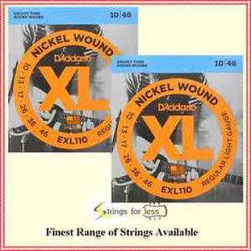 D'Addario EXL110 Nickel Wound Light Electric Guitar Strings 10 - 46   2 sets