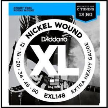 D'Addario EXL148 Nickel-Wound, Drop C Tuning Electric Guitar Strings 12 - 60