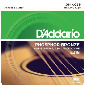 1 Set of NEW D'Addario EJ18 Guitar Strings Heavy
