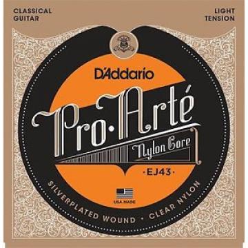 Two Sets D'Addario Pro Arte Nylon Core Classical Guitar Strings lt tension; EJ43