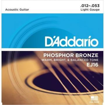 D'Addario EJ16-B25 Phosphor Bronze Acoustic Guitar Strings Light 25 Bulk Sets