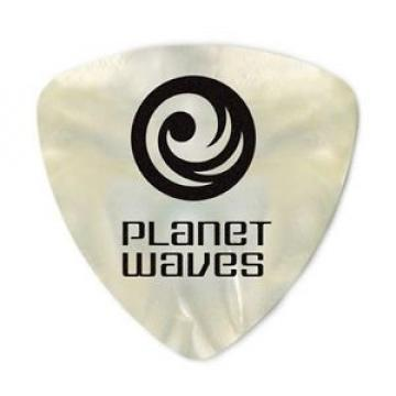 Planet Waves White Pearl Celluloid Guitar Picks, 10 pack, Heavy, Wide Shape