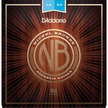 3 sets D'Addario Light Nickel Bronze Acoustic Guitar Strings