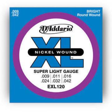 D'ADDARIO EXL120 STRING SET LIGHT DADDARIO ELECTRIC GUITAR STRINGS 009 - 42