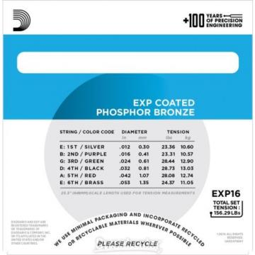 D'Addario EXP16 Coated Phosphor Bronze Light Acous