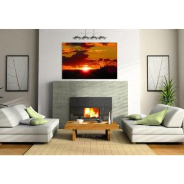 Stunning Poster Wall Art Decor Eventide Landscape Sunset 36x24 Inches