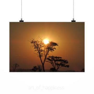 Stunning Poster Wall Art Decor Sunset Eventide Sol Horizon 36x24 Inches