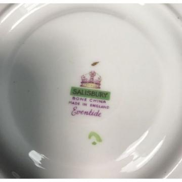 """Salisbury Bone China Eventide Made in England Saucer 5.5"""" Rnd Saucer Only"""