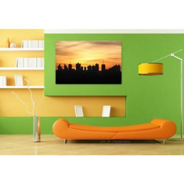 Stunning Poster Wall Art Decor West Silhouette Eventide 36x24 Inches