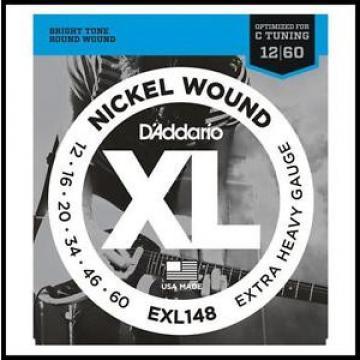 D'Addario EXL148 Extra Heavy gauge Nickel Wound Electric Guitar Strings 12 - 60
