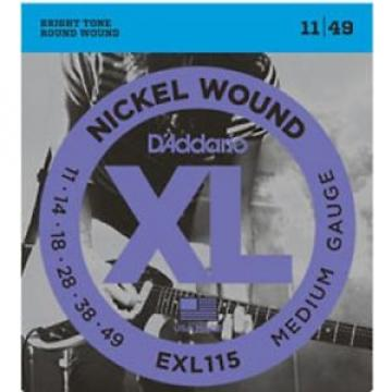 3 Sets D'Addario EXL115-3D Electric Guitar Strings 11-49 Medium Nickle Wound