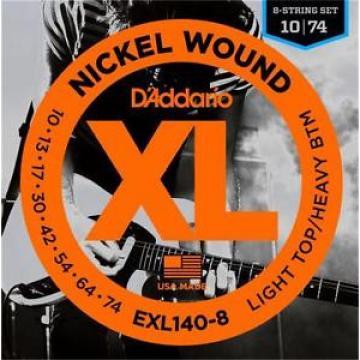 D'Addario EXL140-8 Light Top Heavy/Bot 8-String Electric Guitar Strings 10 - 74