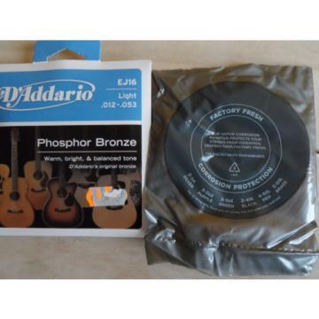 Gitarrensaiten D´Addario Phosphor Bronze EJ16 Light