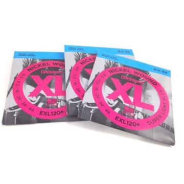 D'Addario Guitar Strings  3 Pack  EXL120+  Super Light Plus  9.5-44