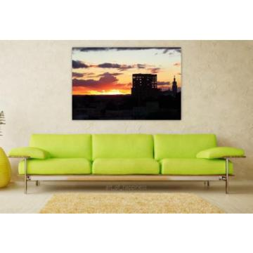 Stunning Poster Wall Art Decor Eventide Church By Sunsets Building 36x24 Inches