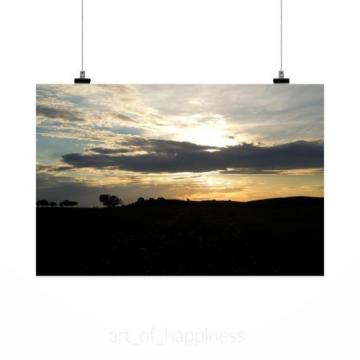 Stunning Poster Wall Art Decor Landscape Eventide Sunset Afternoon 36x24 Inches