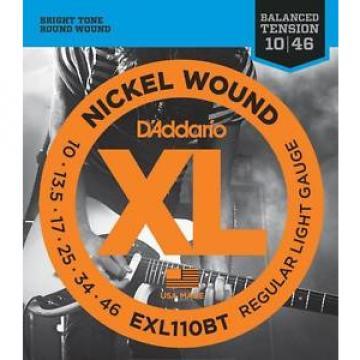 D'Addario EXL110BT Electric Guitar Strings, Balanced Tension 2 Sets!