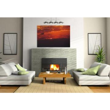 Stunning Poster Wall Art Decor Sunset Sol Eventide Horizon Beauty 36x24 Inches