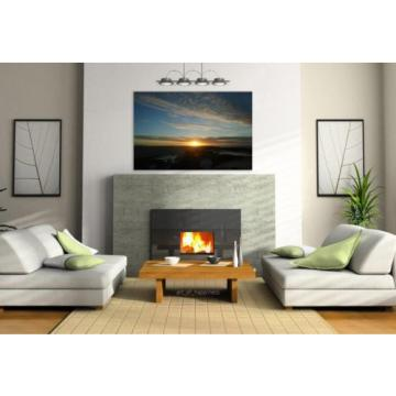 Stunning Poster Wall Art Decor Sunset Sky Landscape Eventide 36x24 Inches