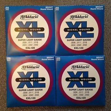 D'Addario EXL120 9-42 electric guitar strings 4 Sets