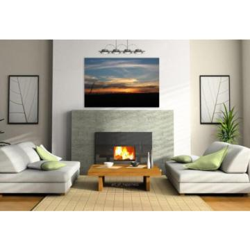 Stunning Poster Wall Art Decor Sunset Sol Sky Eventide Landscape 36x24 Inches