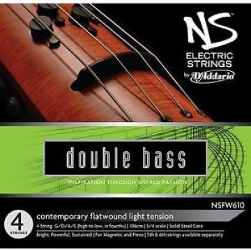 D'Addario NS Electric 3/4 Scale Medium Tension Contemporary Bass String Set