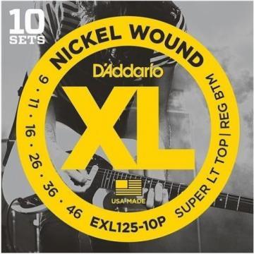 D'addario 10 Pack Choose EXL110-10P EXL120-10P EXL115-10p EXL125-10P EXL140-10P