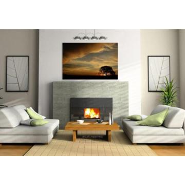 Stunning Poster Wall Art Decor Tree Eventide Sol Sunset Nature 36x24 Inches