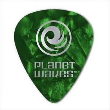 Planet Waves Guitar Picks  10 Pack Celluloid Green Pearl  Medium
