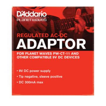 D'Addario Planet Waves PW-CT-9V Regulated AC-DC 9V Power Adaptor