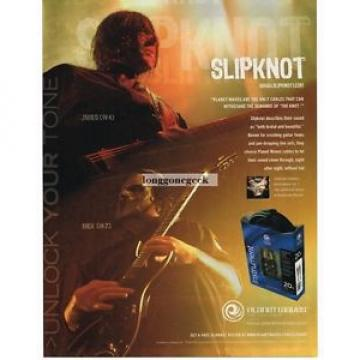 2005 PLANET WAVES Guitar Cables JAMES #4 and MICK #7 of Slipknot Vtg Print Ad