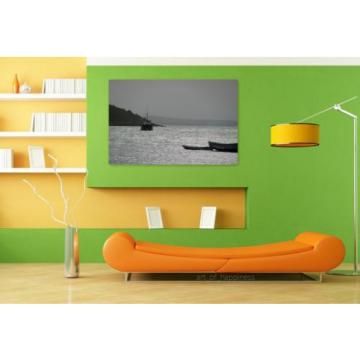 Stunning Poster Wall Art Decor Boat Cove Eventide Mar Horizon 36x24 Inches