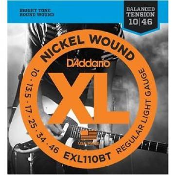 D'Addario EXL110BT Nickel Wound Electric Guitar Strings, Balanced Tension Reg...