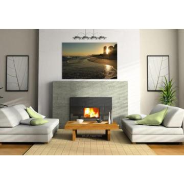 Stunning Poster Wall Art Decor Beach Sunset Mar Sol Eventide 36x24 Inches