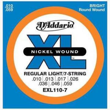 D'Addario EXL-110-7 Nickel Wound Electric Guitar Strings 7-string set  10-59