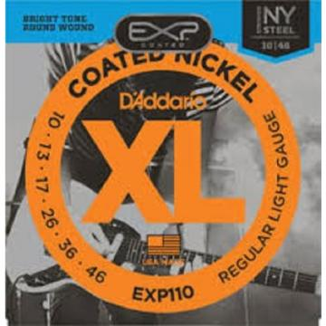 D'Addario EXP Coated Nickel Wound Electric Guitar Strings - Various Gauges