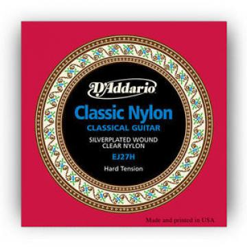 5 Sets D'Addario EJ27H Classical Guitar Nylon String Hard Tension 3-Pack