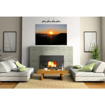 Stunning Poster Wall Art Decor Sunset Afternoon Eventide Sol Sky 36x24 Inches