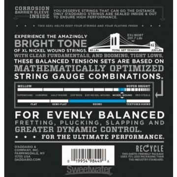 D'Addario EXL160BT Balanced Tension Nickel Wound M