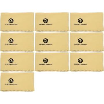 Planet Waves PWPC2 Untreated Guitar Polish Cloth (10-pack) Value Bundle