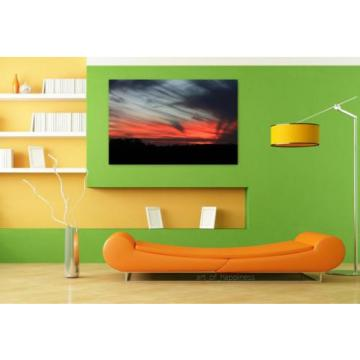 Stunning Poster Wall Art Decor Sunset Sky Eventide Clouds 36x24 Inches