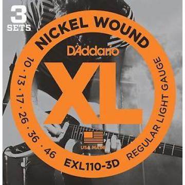 3 SET D'ADDARIO EXL110 CORDE PER CHITARRA ELETTRICA 10-46