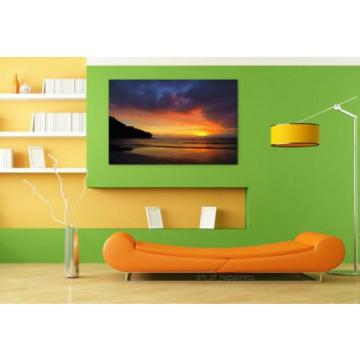 Stunning Poster Wall Art Decor Eventide Beach Colorful Mar Nature 36x24 Inches