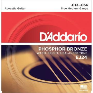 D'Addario Guitar Strings  EJ24  True Medium / DADGAD Tuning  .013-.056